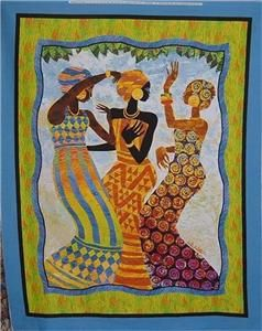 African dancing women: Quilts Fabrics, Fabrics Panels, Black Heart, Dance Women, Africans Dance, Black Art, Africans Art, Fabric Panels, Africans Women