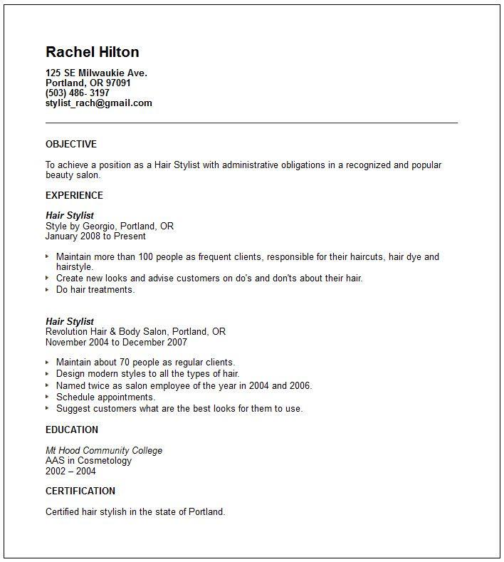 Salon Resume, gorgeous inspiration salon manager resume 2 best - salon resume