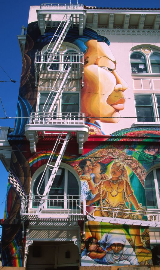 The Mission District's Balmy Alley and Clarion Alley resemble an open-air street-art museum with about 40 murals each in #SanFrancisco