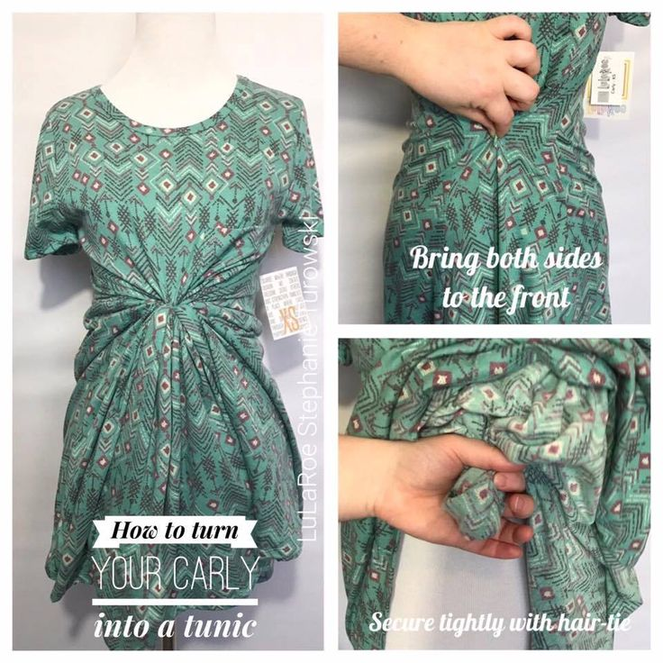 How to turn your LuLaRoe Carly into a tunic
