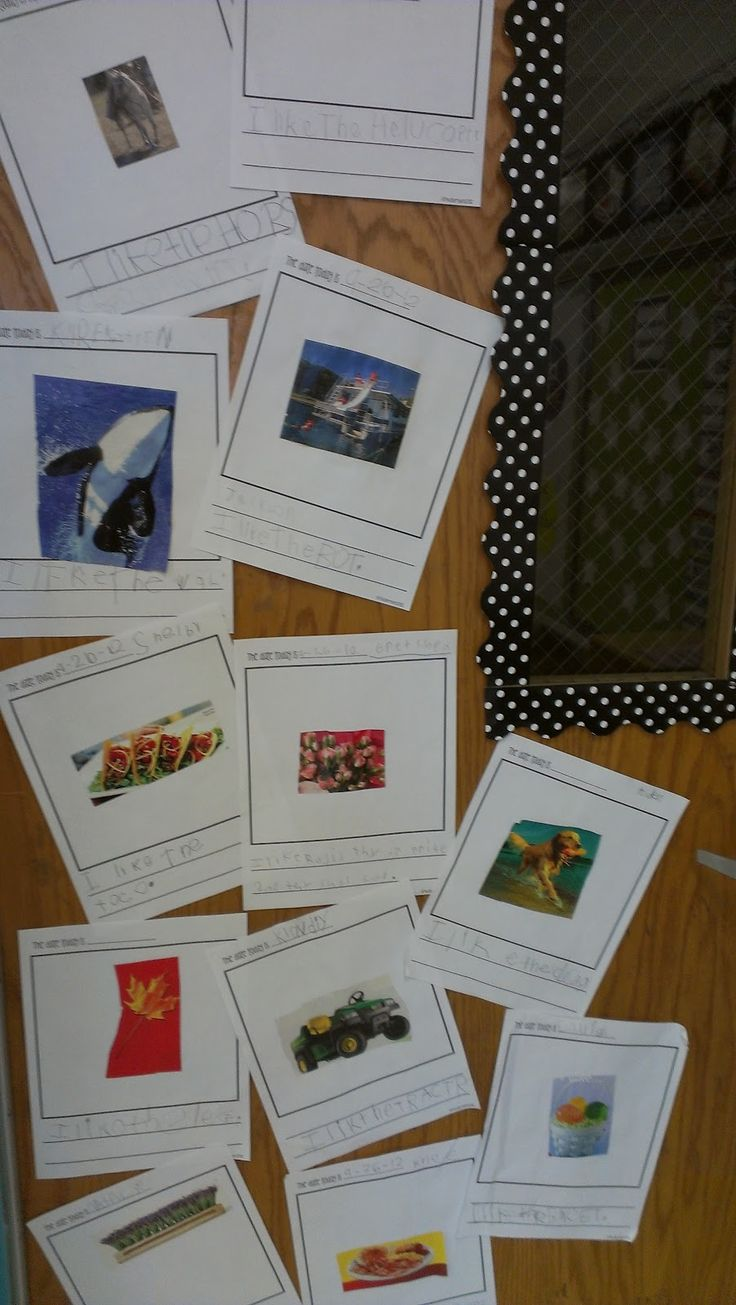 Magazine pictures for writing captions