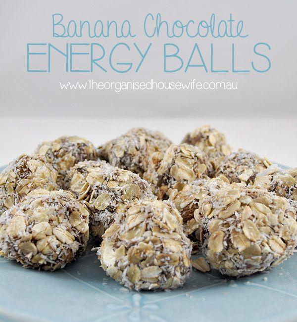 {The Organised Housewife} Banana Chocolate Energy Balls