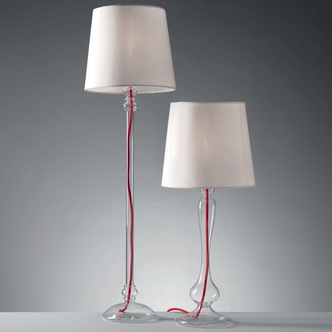 LAMPADE 'AIR' O828-O829  Lampade Air in vetro trasparente. Dimensioni: 25x85 h. cm. Mascagni Casa