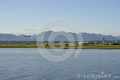 Vancouver International Airport  located on Sea Island in Richmond, British Columbia, Canada, about 12 km from Downtown Vancouver