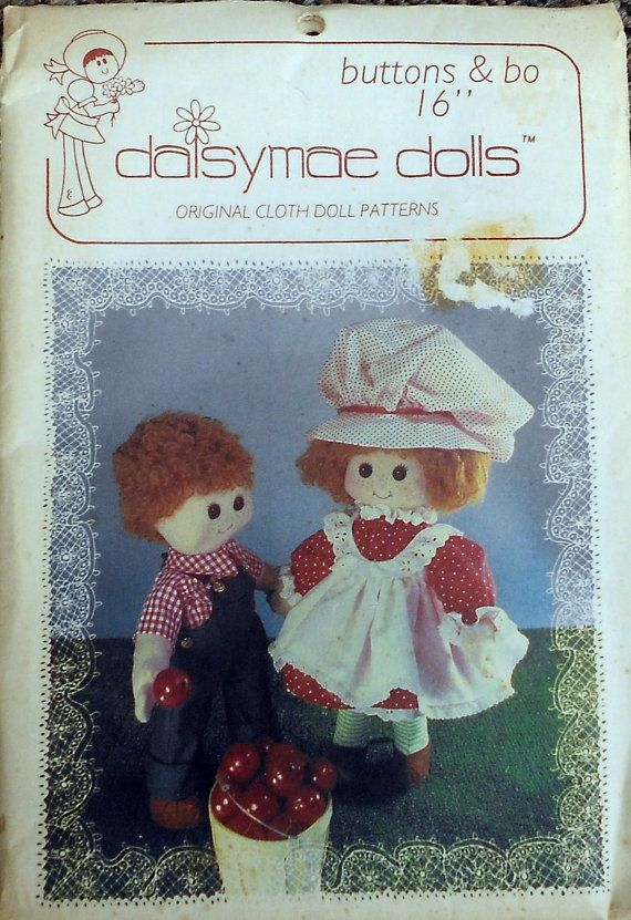 Vintage Daisy Mae Cloth Doll Making Pattern by SewandPatternGalore, $8.00Clothing Dolls Make, Dolls Pattern, Fabrics Dolls, Doll Patterns, Fun Dolls, Daisyma Dolls