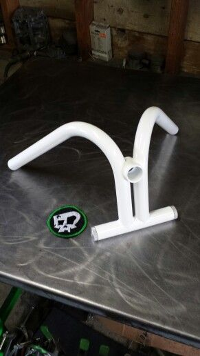 Zombie Performance custom handlebars with stash tube