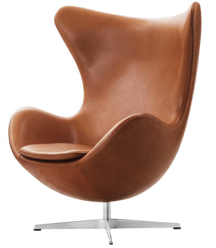 Egg easy chair Arne Jacobsen elegance walnut leather