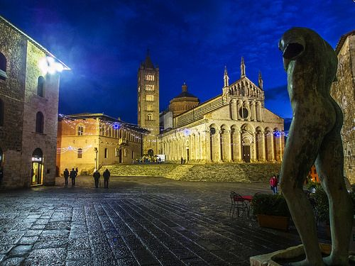 Massa Marittima in Maremma Tuscany at night: my home town :)