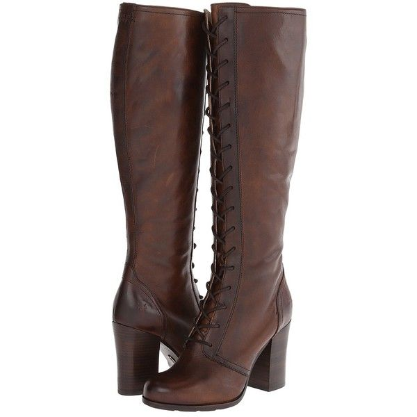 Frye Parker Tall Lace Up Women's Lace-up Boots found on Polyvore