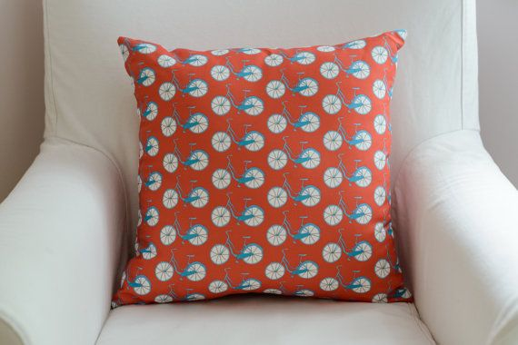 Scandinavian inspired pillow cover with bicycles by TroskoDesign on Etsy: https://www.etsy.com/listing/227359124/scandinavian-inspired-pillow-cover-with?ref=shop_home_active_8