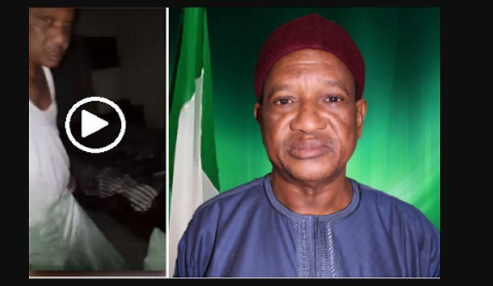 VIDEO LEAKED! Former Governor And Serving Senator Bukar Abba Ibrahim Caught Red-handed Having $ex WIth Two Ladies (Video)