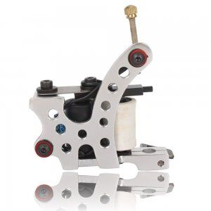 OnceAll 8 wraps Coils Aluminum Alloy Liner Shader Tattoo Machine Silver White 705-2  #Beauty