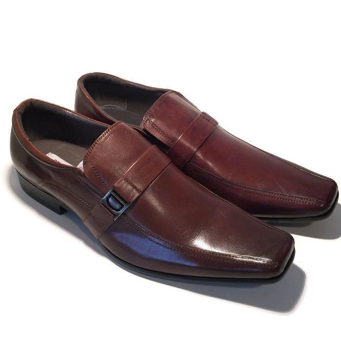 STEVE MADDEN DUSTINN Mens Leather Loafers Dress Shoes SIZE 9