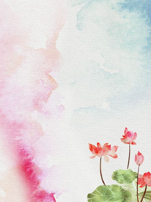 Chinese Style Watercolor Ink Lotus Background Chinese Style