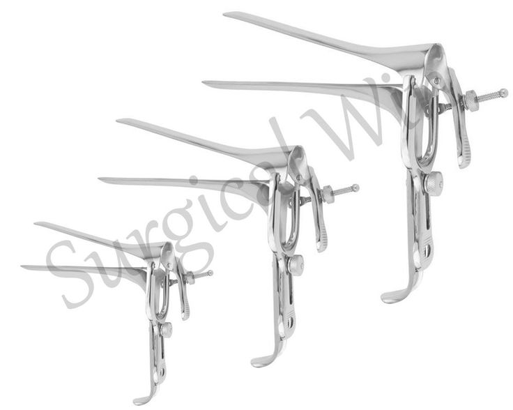 Anal Vaginal Speculum Examination Dilation Pederson S M L Set Stainless Steel