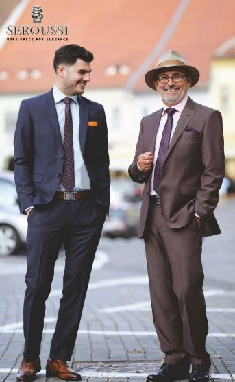 Suits for any time and any generation! Seroussi Brand has three size groups: Regular, Short and Long and also several styles to fit as many gentlemen as possible! For perfect Fit and Quality!