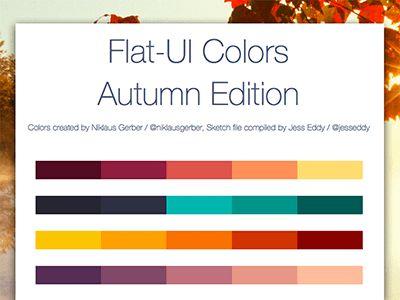 Flat UI Colors Autumn Edition