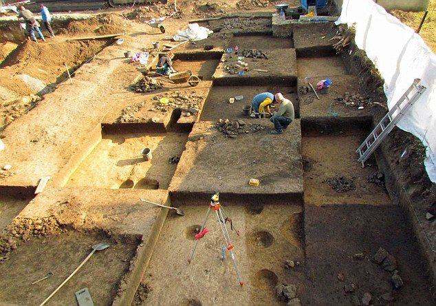 Scientists find Czech long houses - and one male skeleton buried as if he was a woman