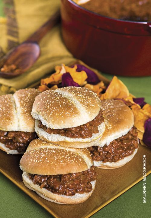 The Circleville Pumpkin Show's pumpkin burgers put an autumn twist on the traditional sloppy Joe.   Recipe   OhioMagazine.com