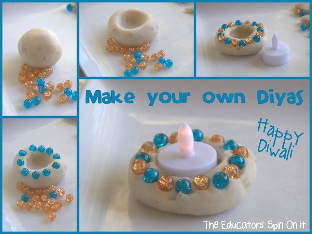 Cute christmas gift for parents! Make your Own Diyas for Diwali from The Educators' Spin On It