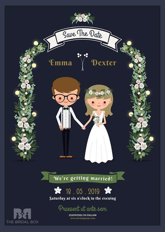 10 Super Adorable Cartoon Wedding Invitations For The Fun Loving Couple