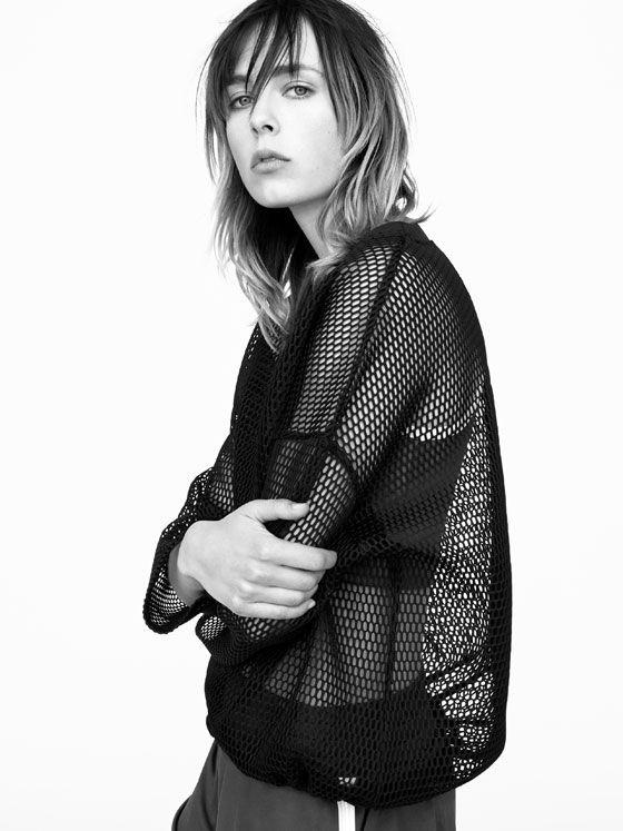 Zara mesh sweatshirt
