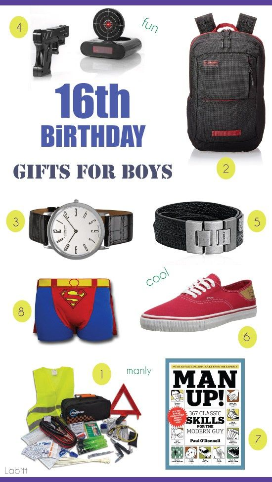 Best 16th birthday gifts for boys.