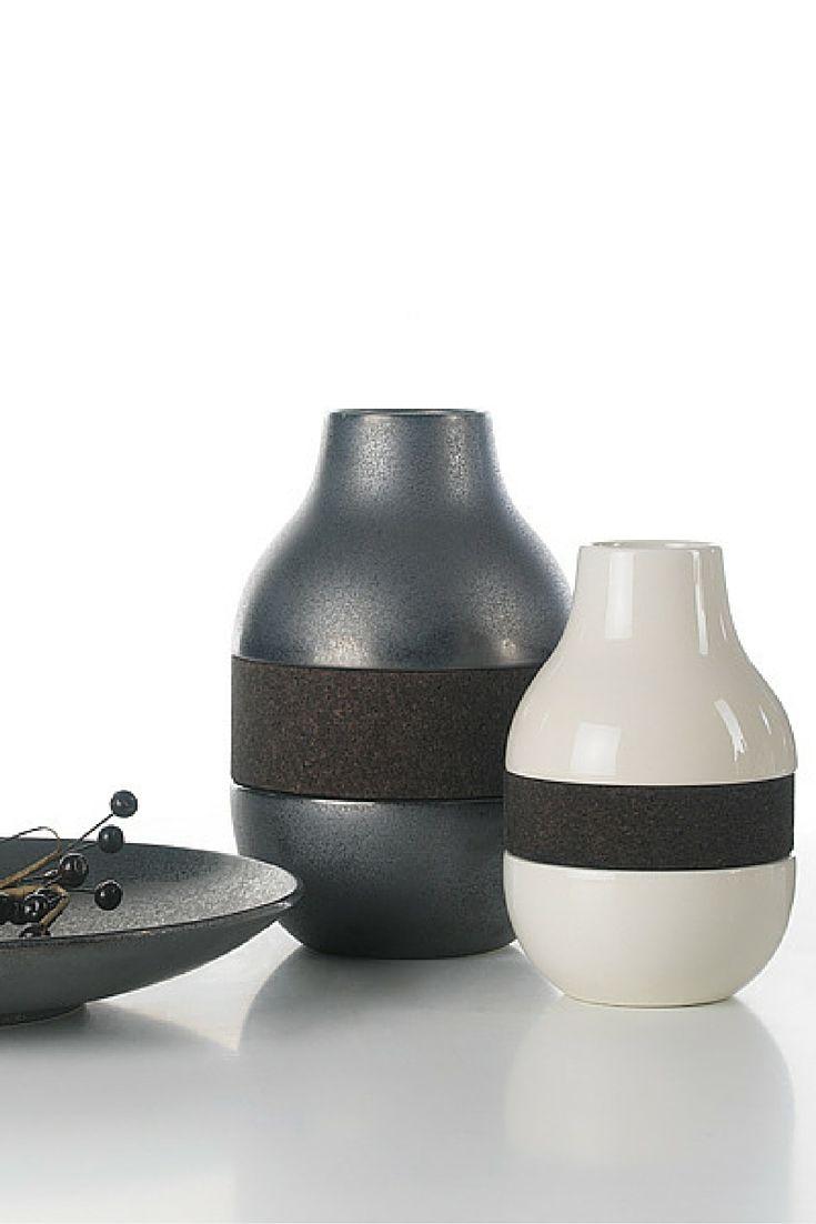 Double Line with black cork | Arfai Ceramics Portugal 2016 collection.  www.arfaiceramics.com