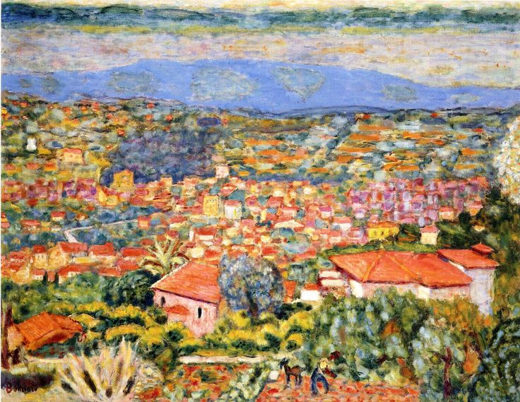 Pierre Bonnard - Viev of Le Cannet, Roofs, 1941-1942, oil on canvas