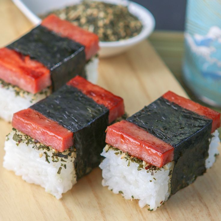 Bite-Size Spam Musubi with Green Tea Furikake | Thirsty for Tea