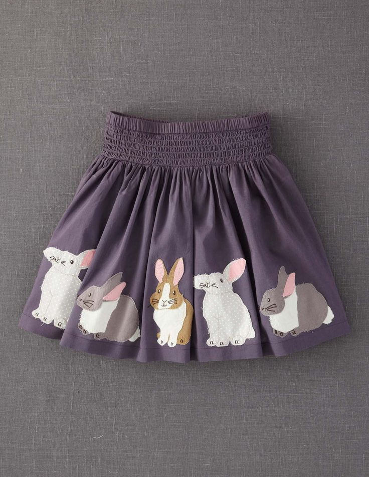 Bun-tastic! Appliqué Skirt 32434 Skirts at Boden #boden #magicalmenagerie