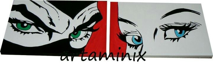 Diabolik ed Eva kant eyes!#ondemand #commissione#pop #comic #fumetto #art #handmade