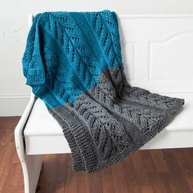 "Pemberley Blanket, Free Pattern Car Seat 30"" x 27"", Crib 43 x 35"", Lap Blanket 56"" x 43"" Yarn Shown: Biggo Yarn Yardage: 660 - 1320 Needles/Hooks Suggested: Size 11 (8.0mm): 24"" or longer circular needles"