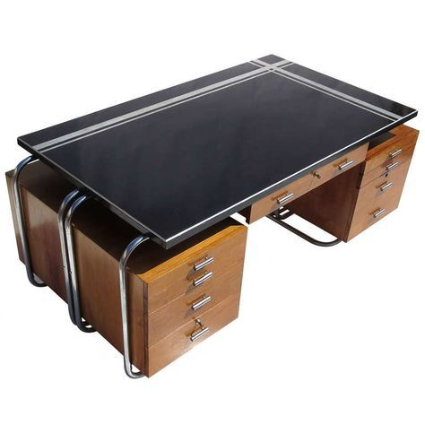 Art Deco Desk from New York City Woolworth's | From a unique collection of antique and modern desks at https://www.1stdibs.com/furniture/storage-case-pieces/desks/