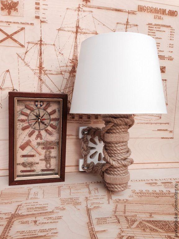 """Купить Бра """"Маяк"""". Lamp.Морской стиль. Nautical. - бежевый, белый, морской стиль, nautical"""