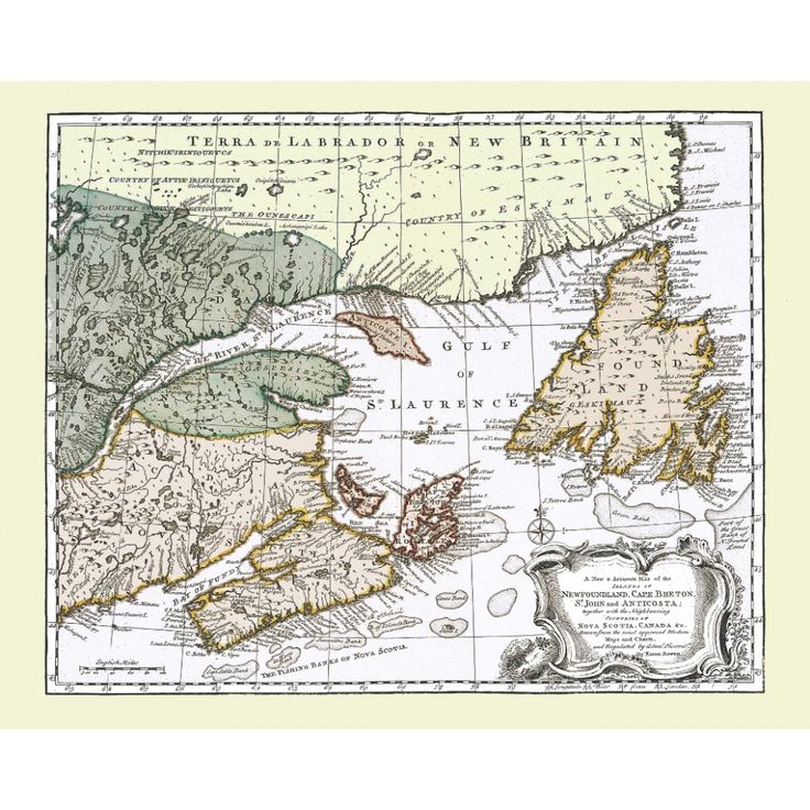 Atlantic Canada - vintage map poster for wall & deco. Handmade paper print. #map, #antiquemap, #vintagemap, #oldmap #historicalmap, #mapreproduction #mapreproductions #oldmaps, #vintagemaps, #antiquemaps, #historicalmaps #handmadepaper #maps,#canada, #atlanticcanada  #newfoundland, #mapdecor, #traveldecor #walldecor, #mapgifts