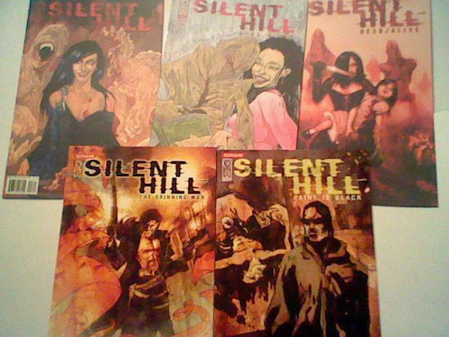 5 Silent Hill IDW comic lot Dead / Alive 2 3 5 / Grinning Man / Paint it Black