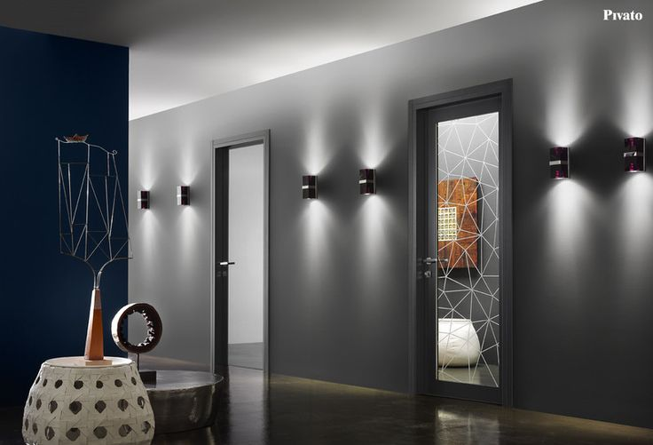 Porte interne in legno con vetri decorati