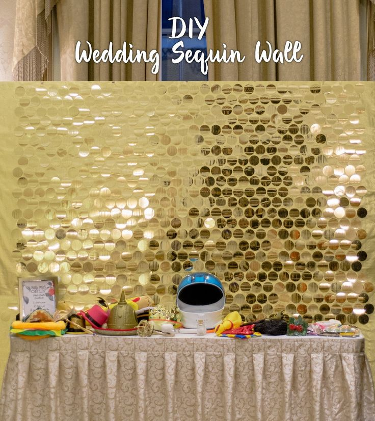 How I made a sequin wall backdrop for my wedding