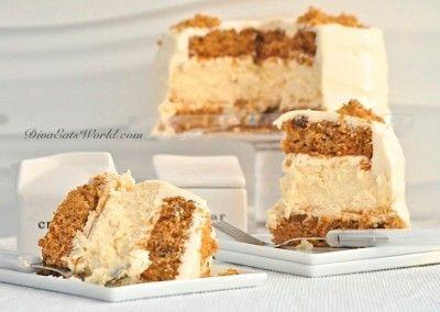 Easter Dessert - Layered Carrot Cheesecake
