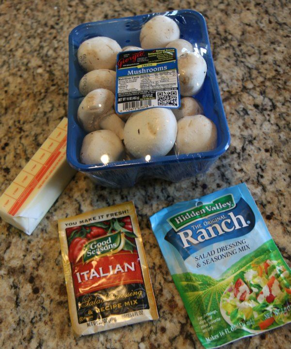 Easy to make Slow Cooker Italian Ranch Mushrooms recipe. Perfect side dish for any meal. AD