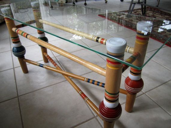 Vintage Croquet Coffee Table by woskab on Etsy, $200.00
