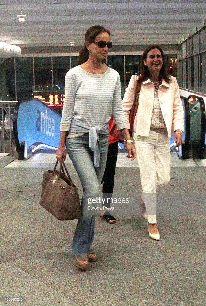 Isabel Preysler (L) is seen on June 23, 2015 in Barcelona, Spain.