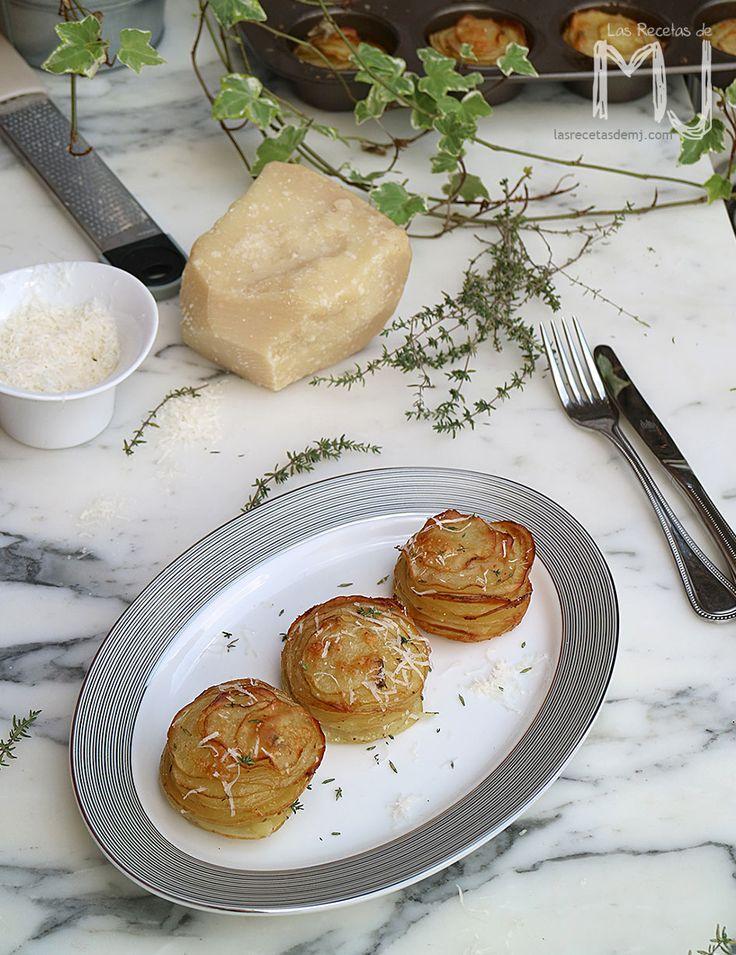 Patatas al horno con parmesano y tomillo (videoreceta)