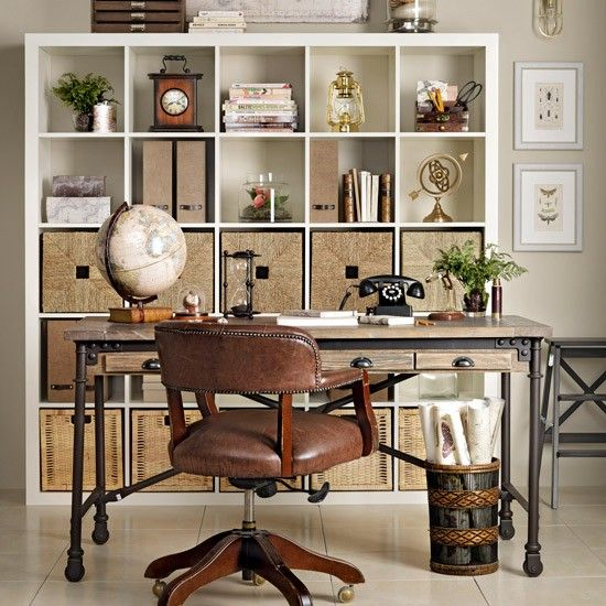 retro home office with streamlined shelving traditional home office design ideas decorating housetohome