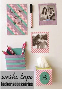 Homemade Locker Accessories! I am so doing this!