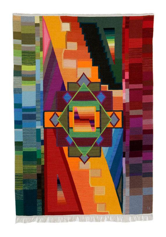 Sum of the Parts Lisa Trujillo 48x72 Modern blanket door Centinela, $13000.00