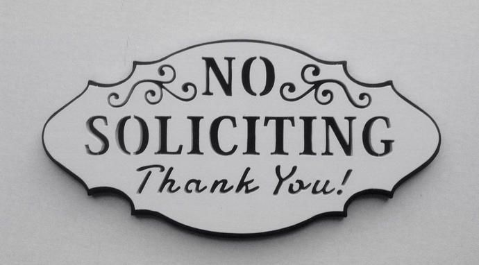 Front Door No Soliciting Sign - No Soliciting Sign - No Solicitation Sign - Door Sign - Wood Sign - No Solicitation - Home Decor -Sign