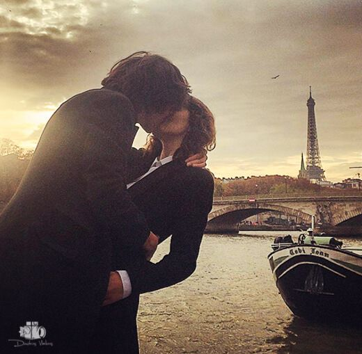 French Kiss in Paris by Dimitris Vlaikos