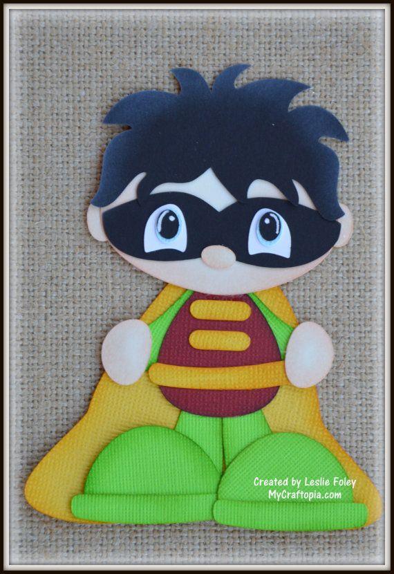 Robin Super Hero Premade Scrapbooking Embellishment by MyCraftopia